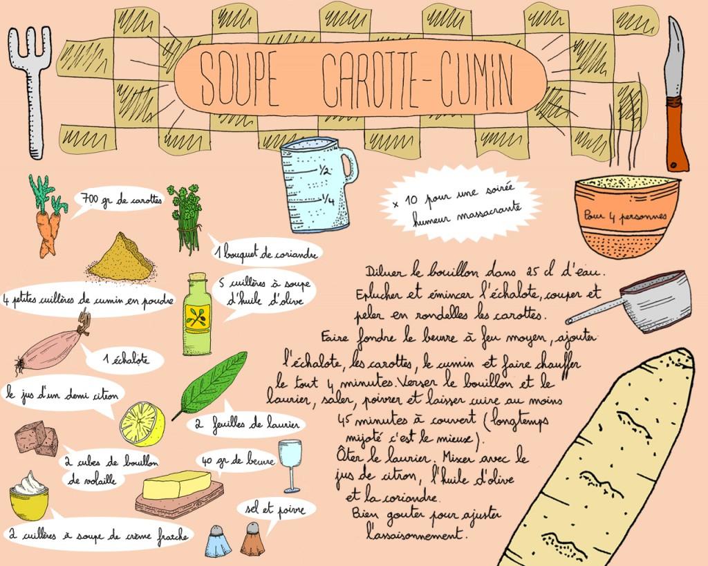 recette soupe carotte-cumin