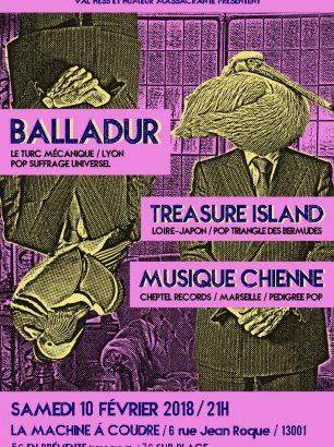 affiche-balladur-treasure-island-musique-chienne-marseille